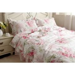 8 Chair Kitchen Table Garden Window Pink Rose Bedding Set