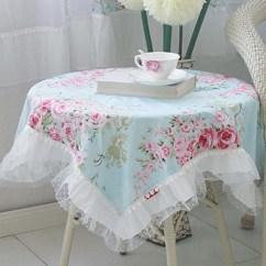 Kitchen Cart White Backsplash Tile Shabby Chic Tablecloth