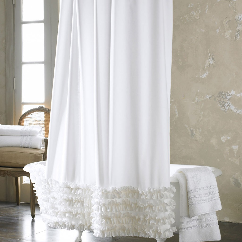 Ruffled Shower Curtain