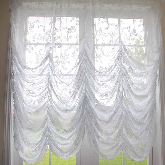 kitchen valance propane stoves balloon curtain