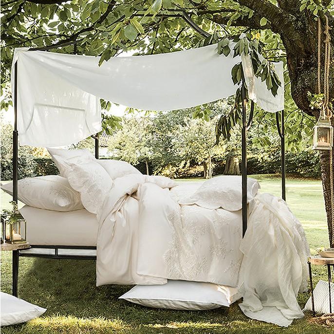 Paris white Lace Egyptian Cotton Duvet Cover Set