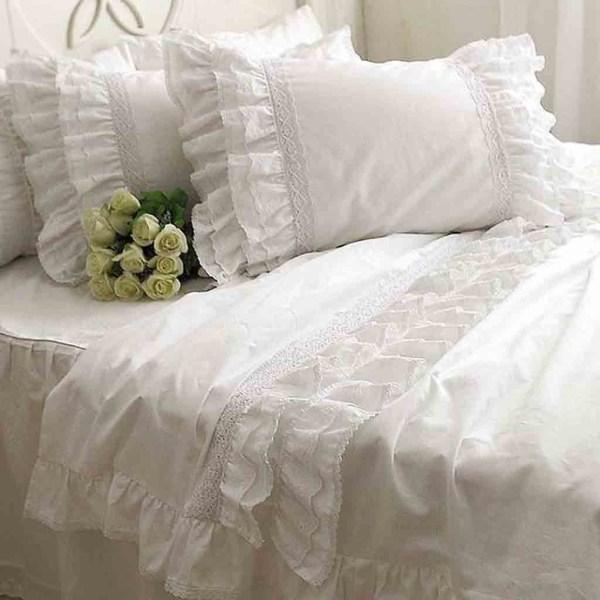 Cotton Ruffle Lace Princess Bedding Set