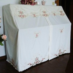 Chair Covers Set Of 6 Kitchen Breakfast Table And Chairs Embroidery Rose Piano Cover