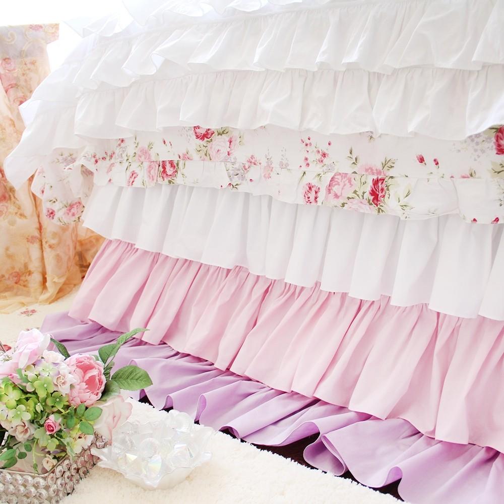 Purple Bedskirt