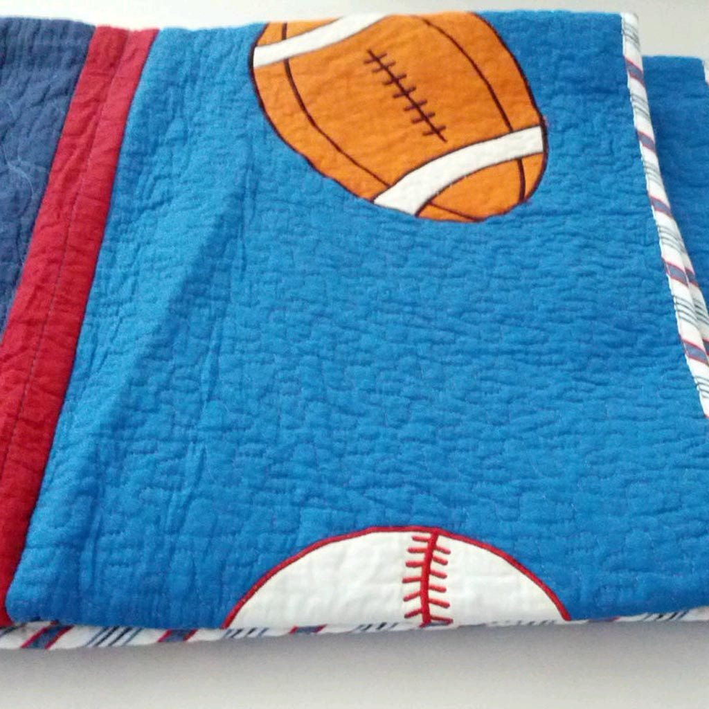 boys sports quilt