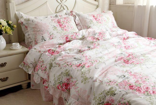 Pink Rose Bedding Set