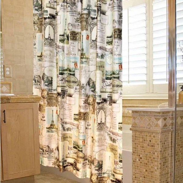 Vintage Paris Shower Curtain