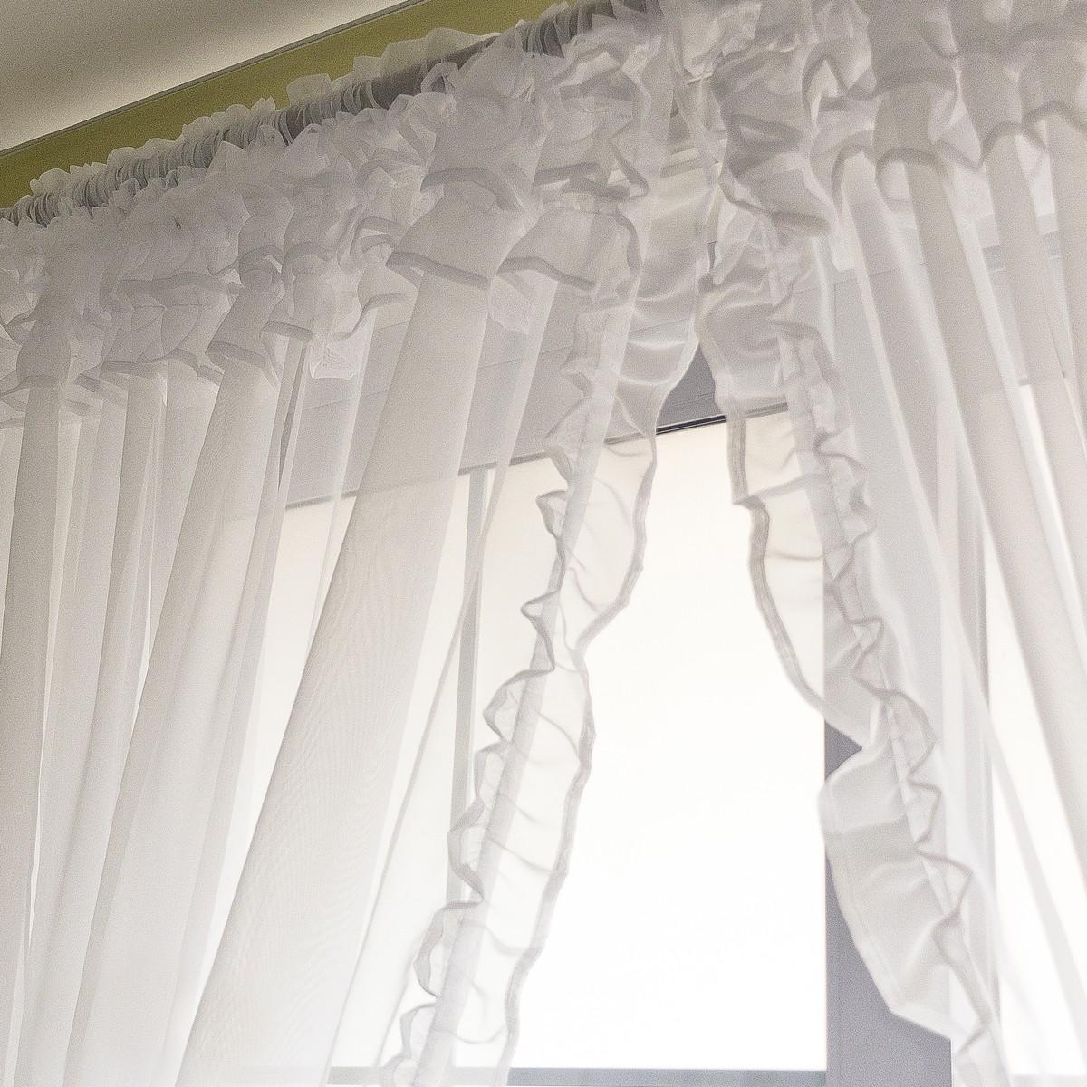 Voile Ruffle Curtain