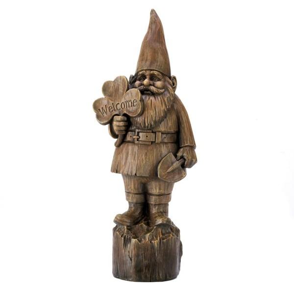 Welcome Gnome Garden Statue