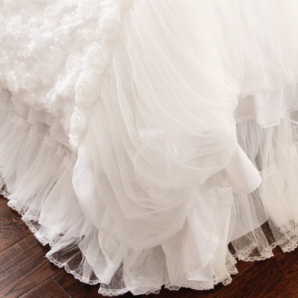 White Ruffle Bed Skirt
