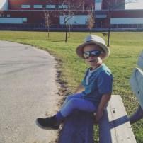 Shirt: Old Navy | Pants: Old Navy |shoes: Old Navy | hat: Joe Fresh | sunglasses: Carter's