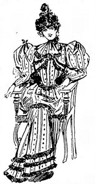 1894 Antique Ladies Dress