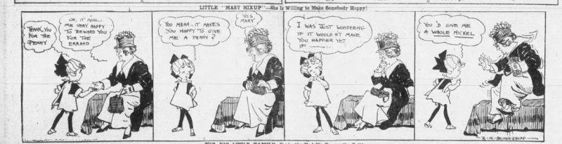 "1918 Comic Strip – Little ""Mary Mixup"""