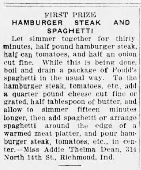 Hamburger Steak and Spaghetti Recipe