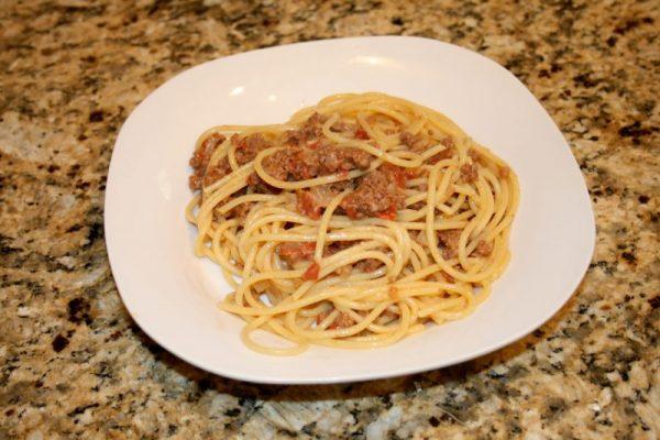 Miss Dean's Hamburger Steak and Spaghetti
