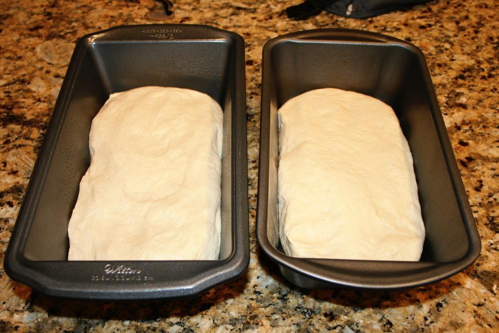 Homemade Bread Dough Divided