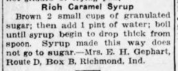 Caramel Syrup Recipe