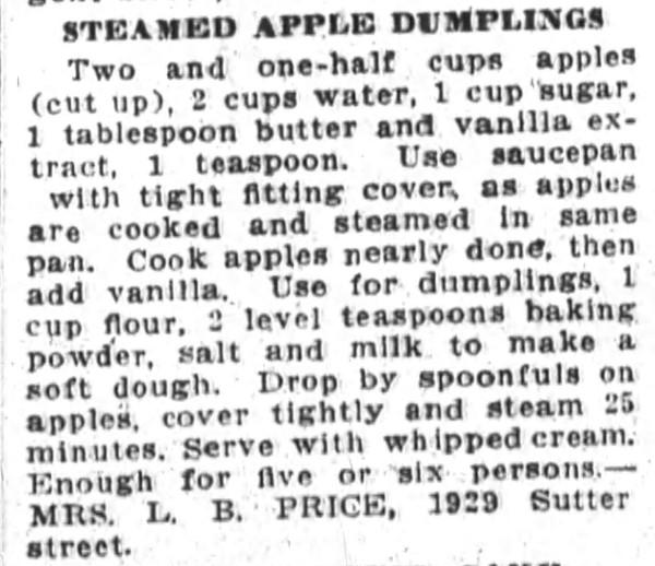 Steamed Apple Dumplings Recipe