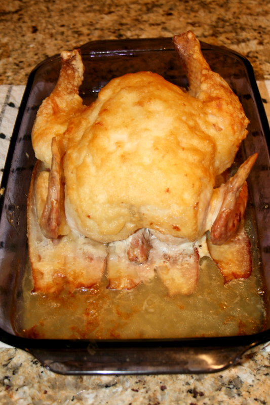 Mrs. Lefter's Roast Chicken After Roasting