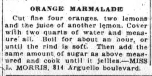 Miss Morris' Orange Marmalde