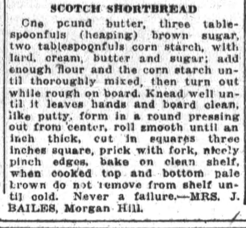 Mrs. Bailes' Scotch Shortbread