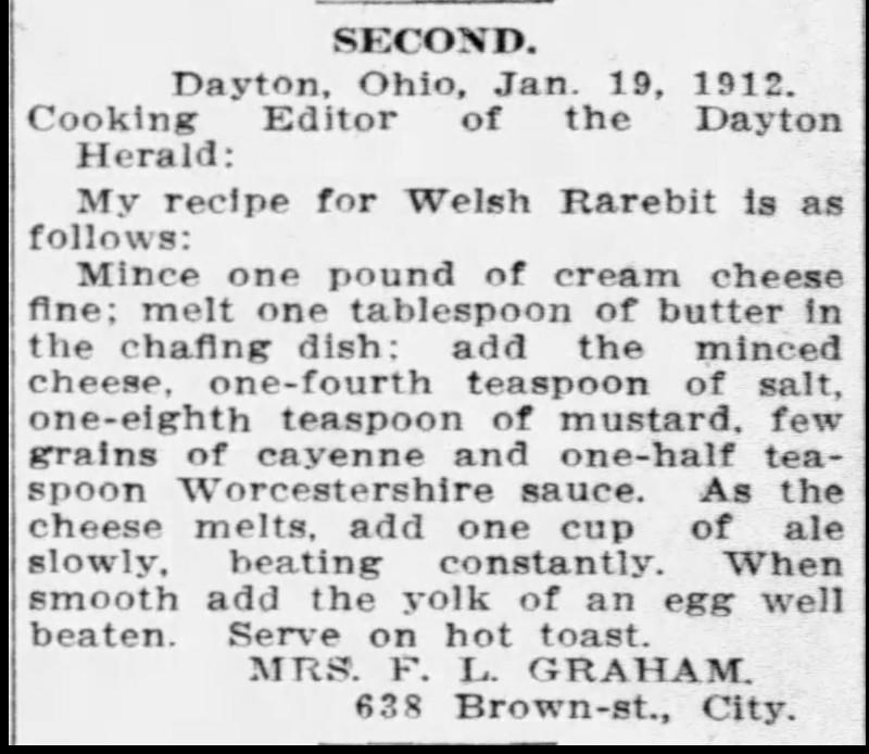 Mrs. Graham's Welsh Rarebit