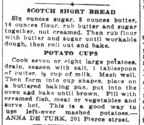 Ms. De Turk's Scotch Shortbread