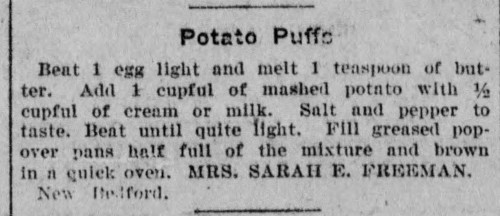 Mrs. Freeman's Potato Puffs Recipe