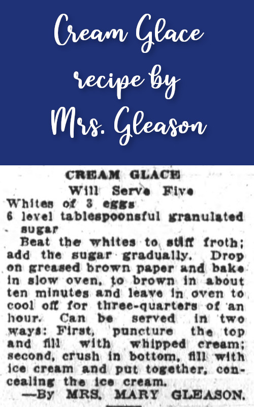Cream Glace by Mrs. Gleason