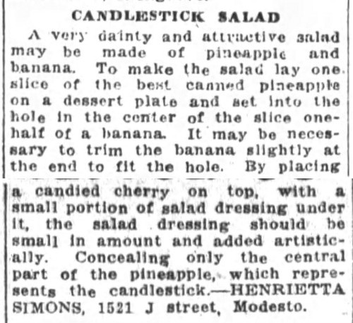Candlestick Salad