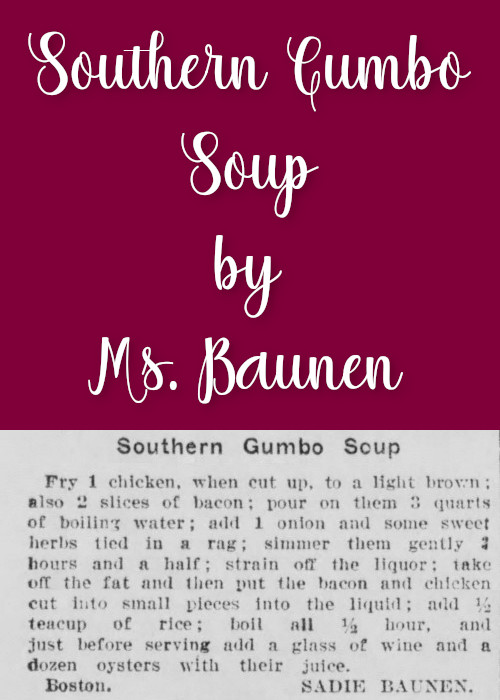 Southern Gumbo Soup by Ms. Baunen
