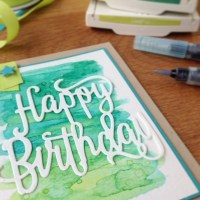 Happy Birthday meets Aquarell