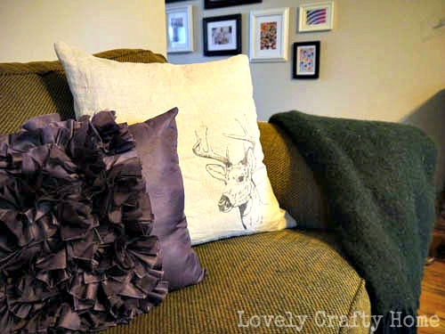 stag head pillow