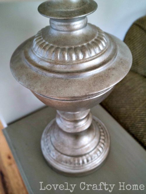 faux metallic lamp base