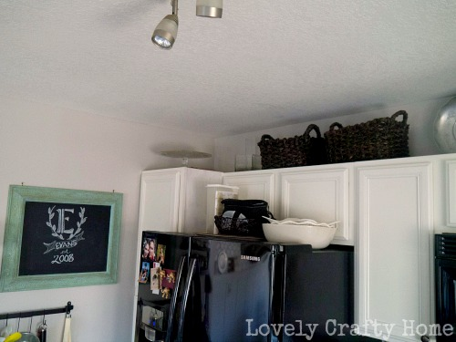 extra storage on top of cabinets