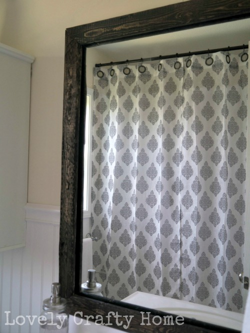 bathroom updates - hang your curtains high