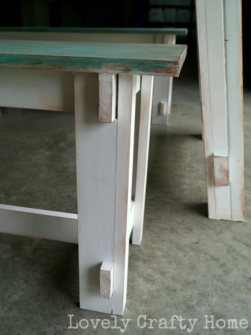 distressed table legs