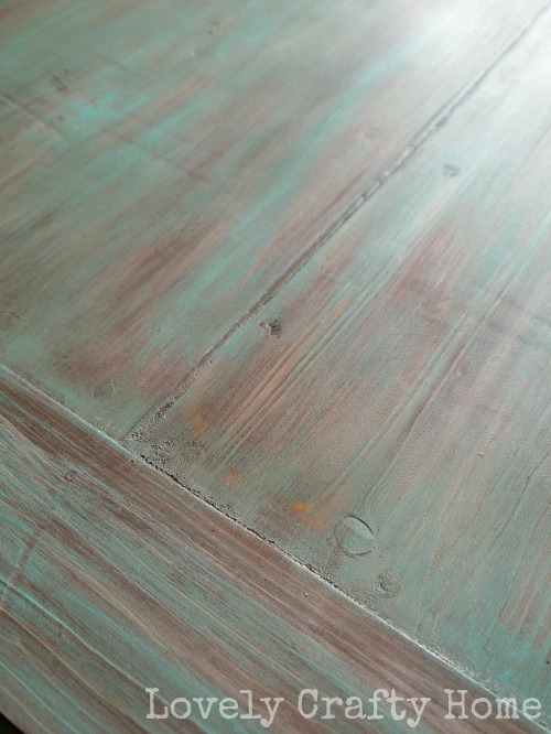 rustic painted table top