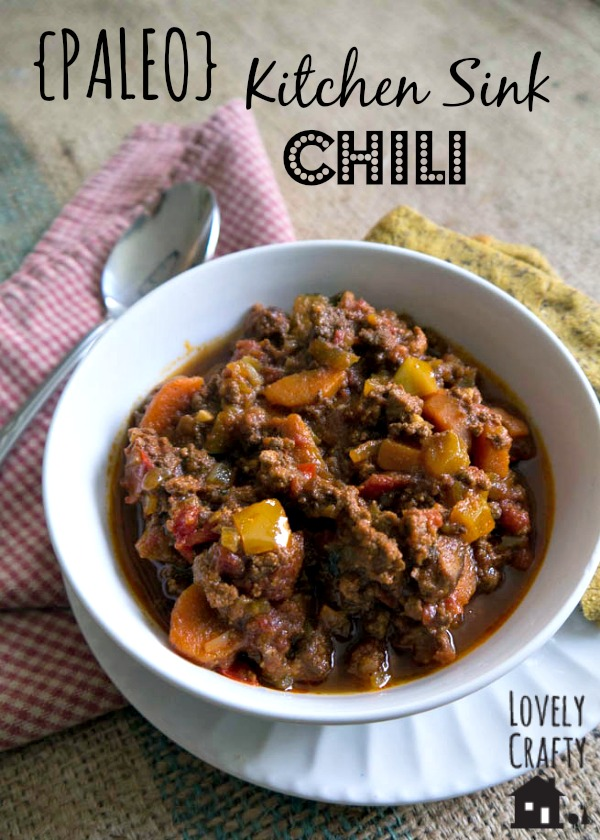 Paleo Chili from Lovely Crafty Home