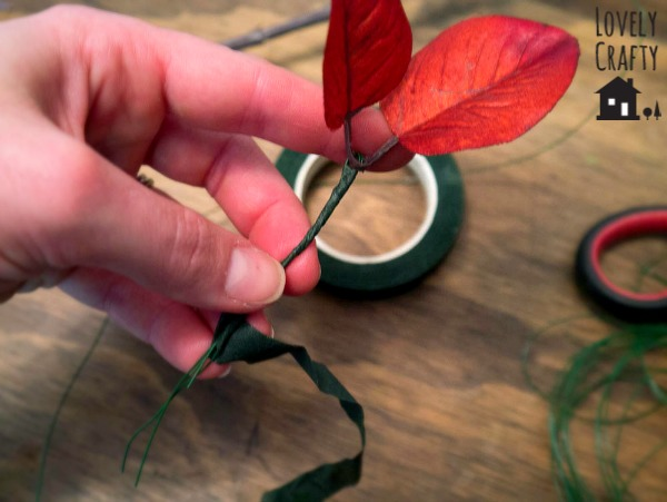 how to wire faux leaves
