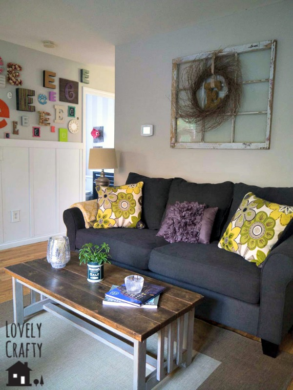 Lovely Crafty Home Living Room Tour 2014