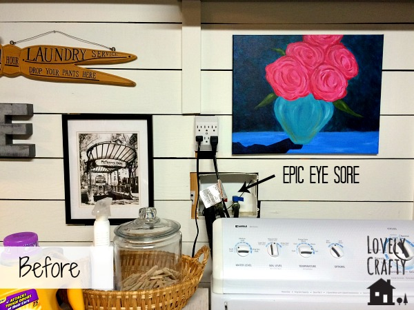 Laundry Room - How To Cover an Eyesore