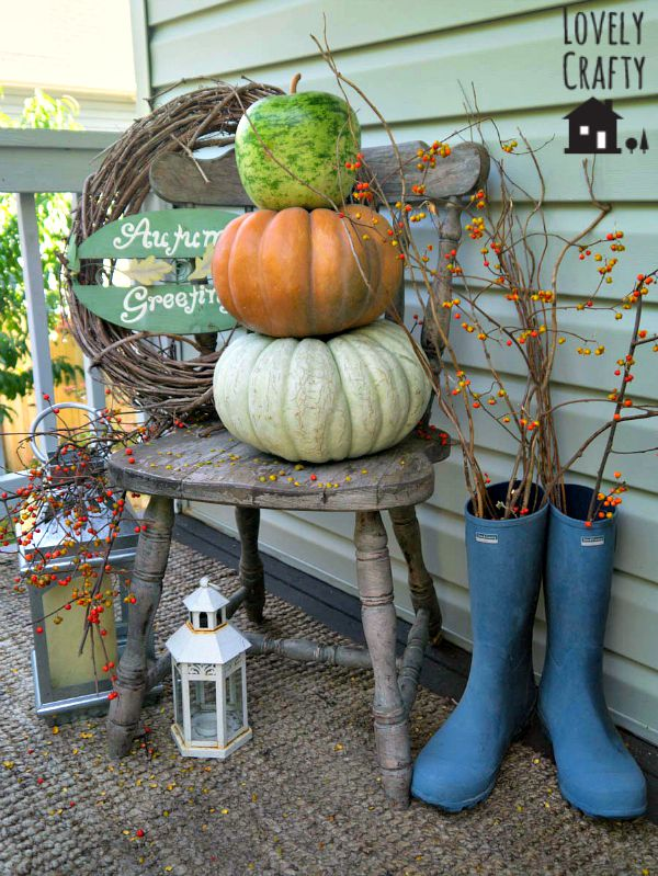 Fall Pumpkin Stack Topiary