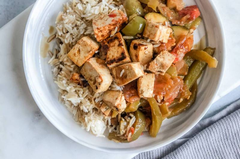 Vegan Veggie Tofu Bowl