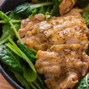 Grilled Chicken With Honey Mustard Dressing