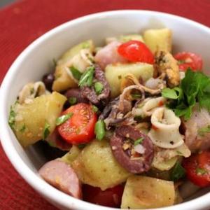 Seafood Italian Salad with Olives