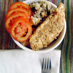 Poppy-seed crusted Chicken
