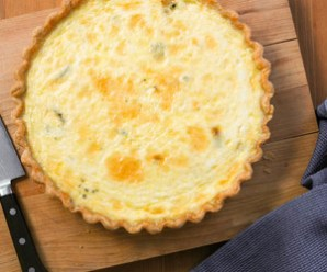 Easy Mixed-Cheese Quiche Recipe