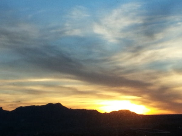 watching sunset at el paso scenic