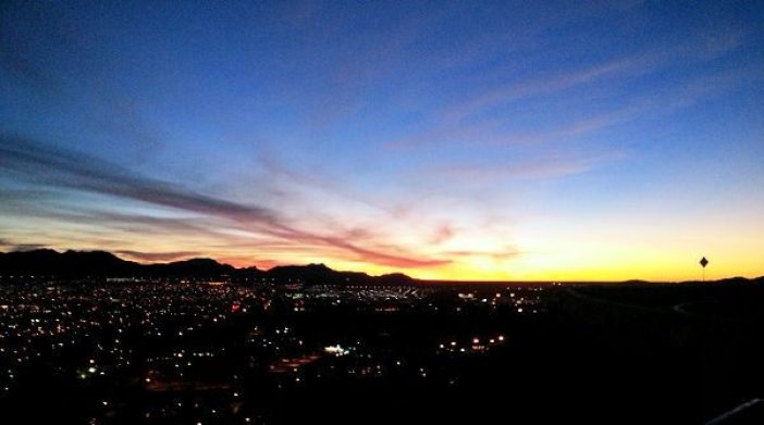Sunset at El Paso Scenic Overlook
